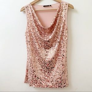 Apt 9 Sequined Embellished Tank Top size S